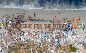 Fight for the Bight protestors gathered on November 23rd, 2019.
